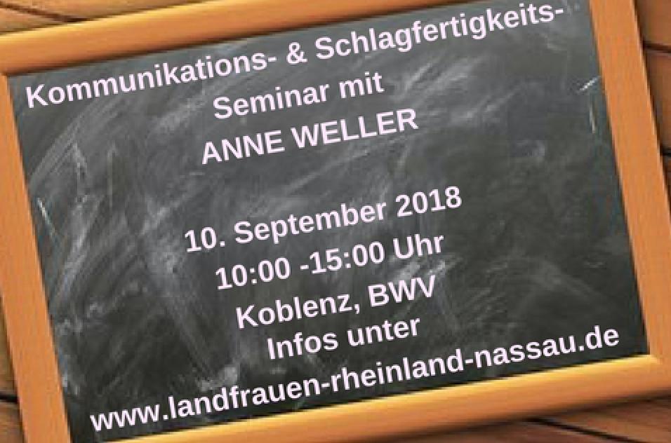 Fortbildung mit Referentin Anne Weller
