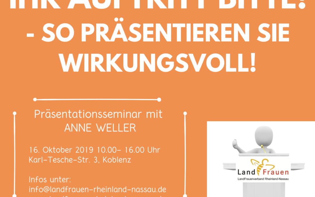 Seminar mit Anne Weller