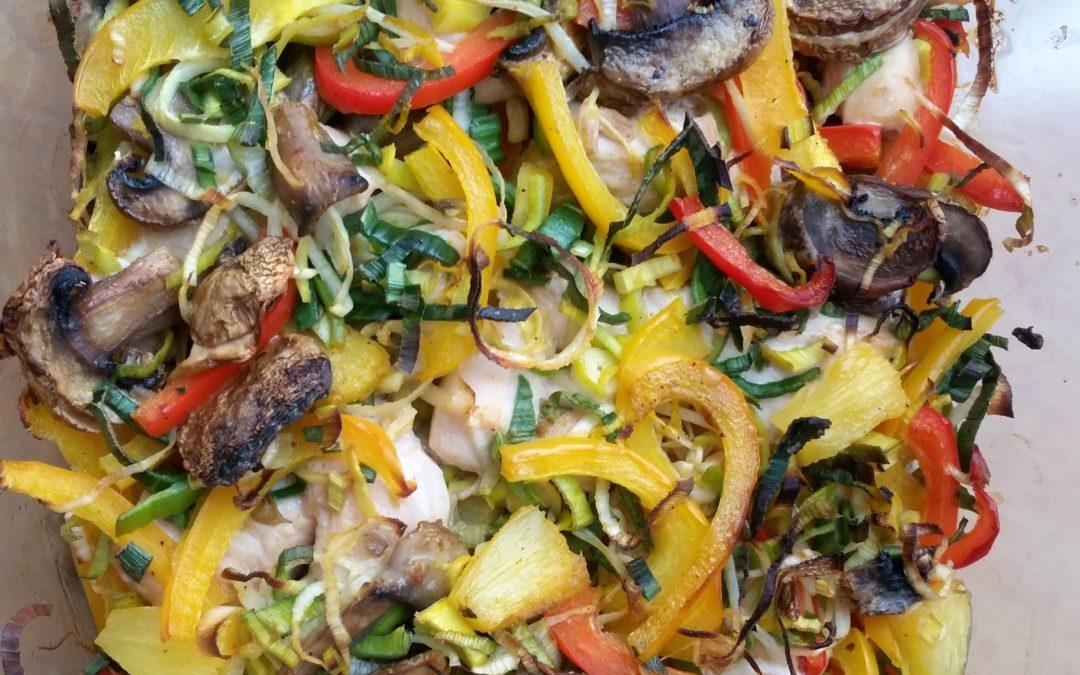 Buntes Gemüse mit Hühnerbrust